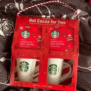 Starbucks hot cocoa for two tote box